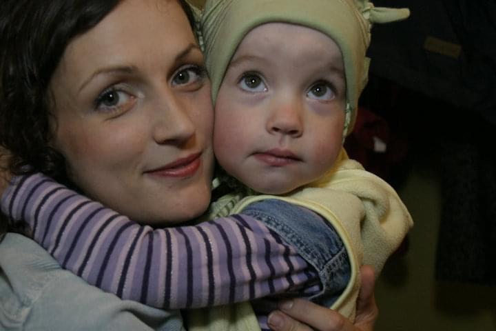 Kristina Savickytė, dukra, apkabinimas